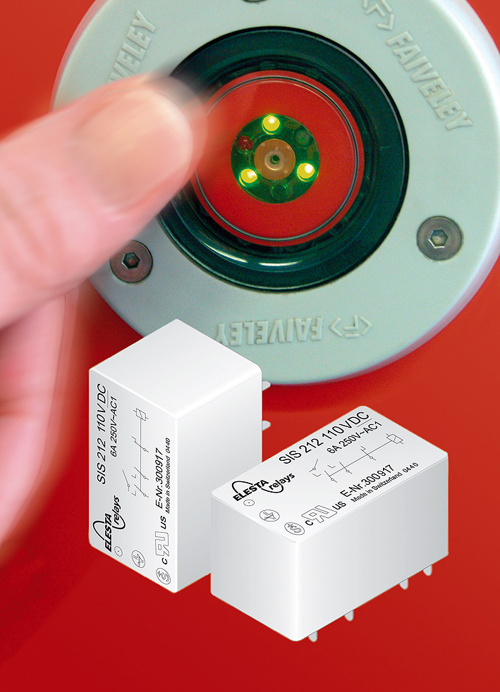 SIS212 Force Guided Safety Relay with Door Open-Close Button