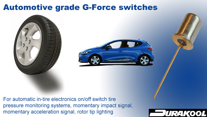 Durakool - Automotive grade G-Force Switch
